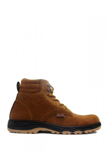 D-Island brown D-Island Shoes Safety Boots Hikers Fashionable Suede Soft Brown DI594SH40RNFID_1