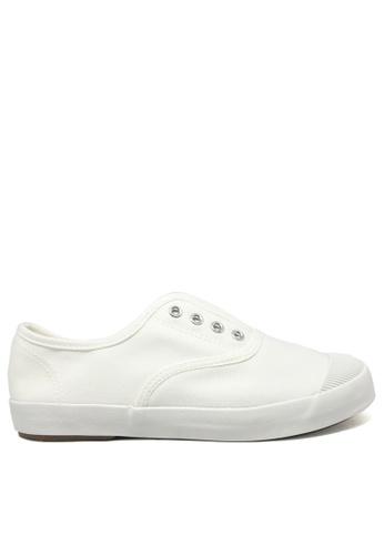 Twenty Eight Shoes white Canvas Elastic Shoes TW446SH29ITIHK_1