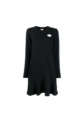 Kenzo black Kenzo Tiger Patch Knitted Sweatshirt Dress in Black DB7F8AAB0CEF8CGS_1