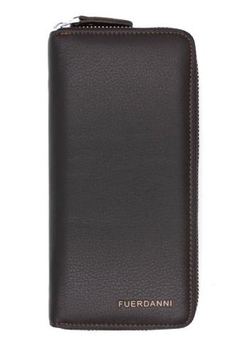 midzone brown TYON Leather Zipper Wallet MI949AC33KEKMY_1