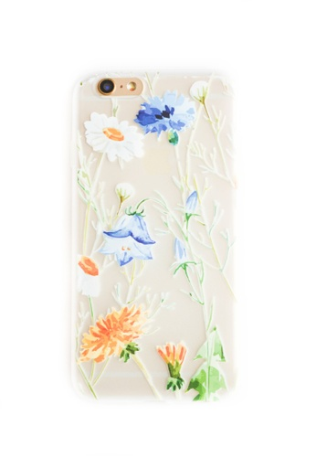 Fancy Cellphone Cases multi Flowers Soft Transparent Case for iPhone 6/6s FA644AC95CIAPH_1