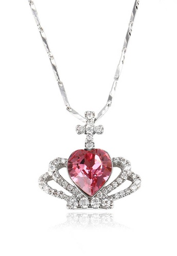 midzone pink Youth's Kate Swarovski Crystal Crown Chain Necklace 485BDACEE51B30GS_1