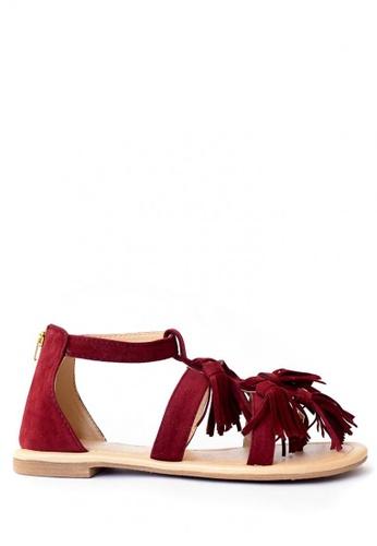 HDY n/a Iris Tassel Flat Sandals (Marsala) HD484SH94OFPPH_1