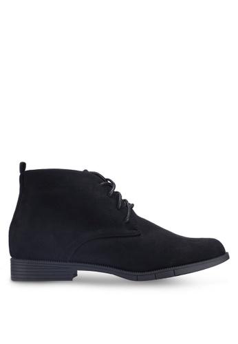 NOVENI black Faux Suede Boots 59165SHEAD120EGS_1