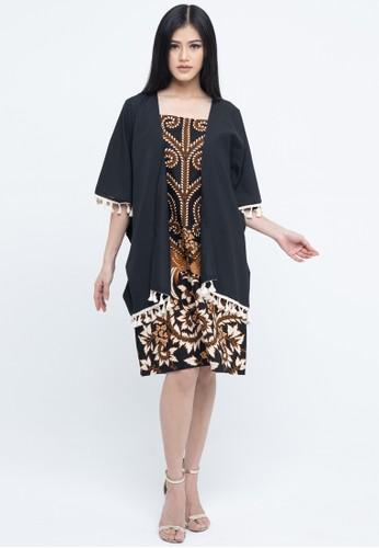 SAVI Batik black and brown Gypsy Batik Florence Dress 7E5C9AAE7705DFGS_1