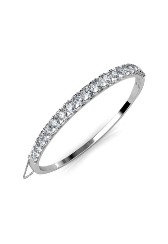 Her Jewellery silver Xena Bangle - Made with premium grade crystals from Austria 7885EAC4BA023BGS_1