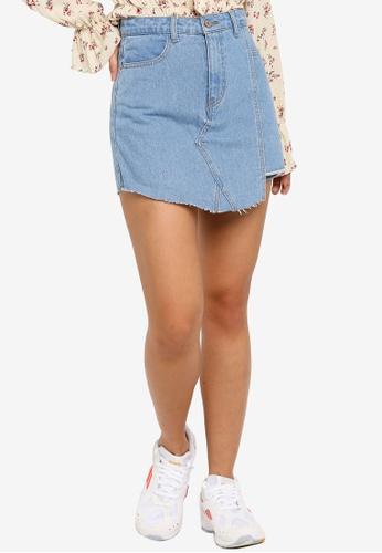 Something Borrowed 藍色 丹寧褲裙 8D261AAE177DD7GS_1