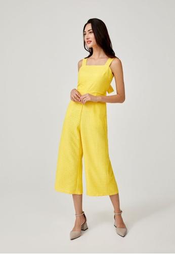 Love, Bonito yellow Amethyst Tie Back Midi Jumpsuit 7CBDDAAEB7FCE5GS_1