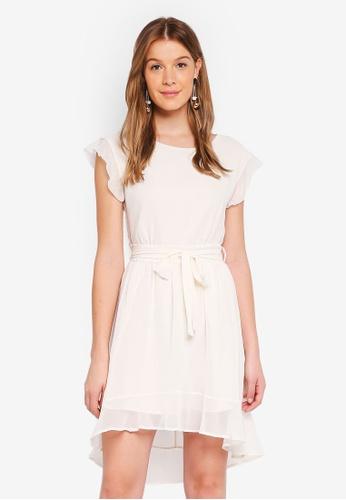 Angeleye white Waist Tie Summer Dress 513E8AA46D6F48GS_1