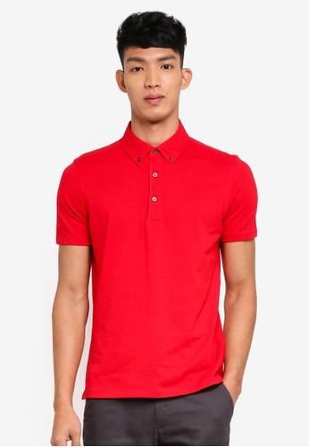 OVS 紅色 簡約POLO衫 89840AA02A684EGS_1
