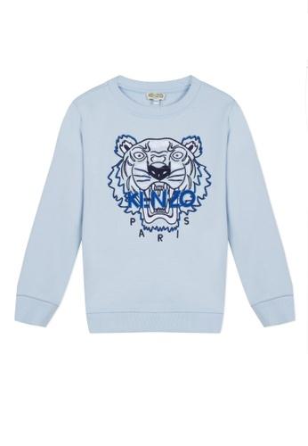 KENZO KIDS blue KENZO TIGER SWEATSHIRT FOR BOYS 4AADBKA82A54D2GS_1
