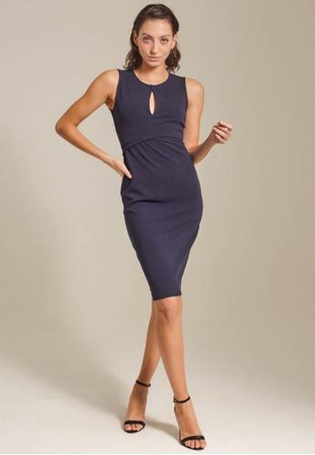 Dressing Paula navy Overlap Roma Knit Dress 6B2BAAA9B92F9FGS_1