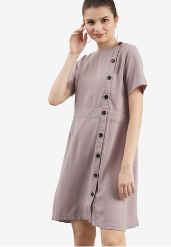 Berrybenka beige Chila Dress 3B0FFAA5533EA4GS_1