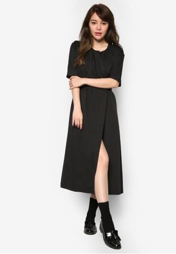 裹飾束腰短袖洋裝尖沙咀 esprit outlet, 服飾, 洋裝
