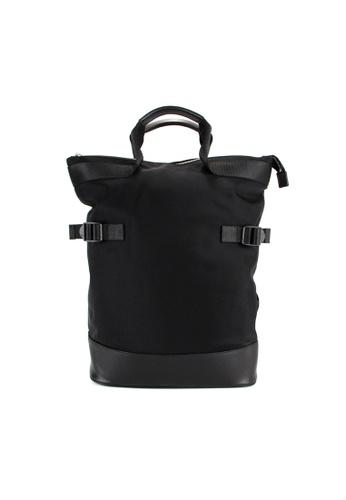 Alef black Alef Raffles Top Zip Backpack in Black 3670DAC847879DGS_1
