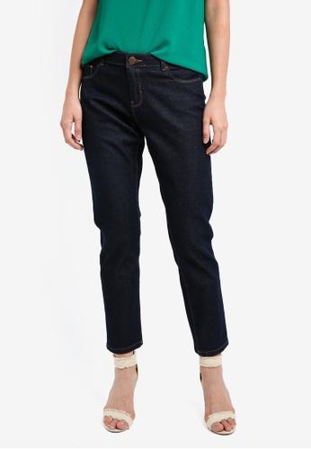 Dorothy Perkins blue and navy Indigo Ashley Straight Jeans DO816AA0SKTQMY_1