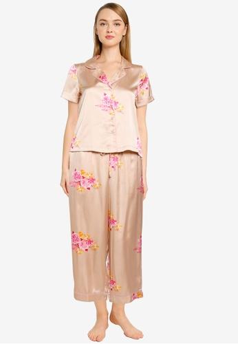 Vero Moda brown and beige Heidenina Nightwear Set B74BAAAE7F5582GS_1