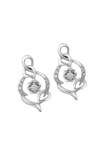 TOMEI white TOMEI Earrings of Spellbindingly Glamorous Roseal Vignette, Diamond White Gold 375 (E2054V) 9AA54AC7FD10B9GS_1