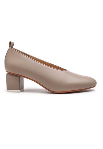 Byford beige Jade Plain Toe Heels 223ECSH4B40429GS_1
