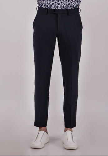 The Executive blue Stretchy Formal Pant 00AE7AA329FFD9GS_1