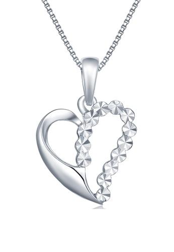 MaBelle silver 14K/585 White Color Gold Hearts Pendant Necklace 4CEC1ACFFA5D1AGS_1
