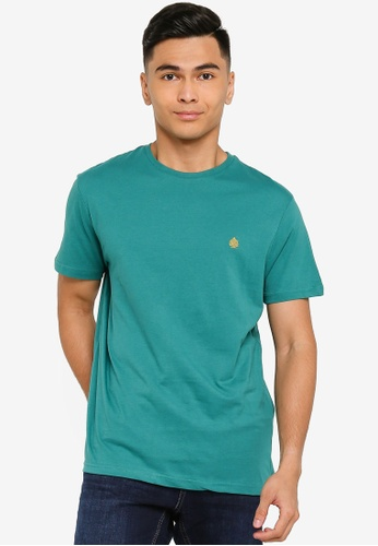 Springfield green Essential Short-Sleeved T-Shirt 54577AA495209DGS_1