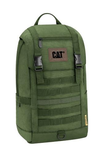 Caterpillar green CAT Combat Visiflash Daypack Backpack With Flap BDA32ACB841D98GS_1
