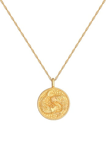 ELLI GERMANY gold Necklace Zodiac Sign Fish Coin Gold 03A40AC1FFC8F1GS_1