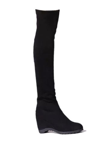 Twenty Eight Shoes black Hidden Heel Skinny Over Knee Boot VB01 88BDCSHF12681BGS_1