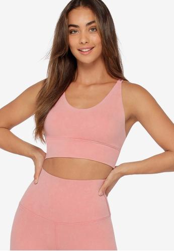 Lorna Jane pink LJ Acid Wash Long Line Bra A5337US1D83E35GS_1