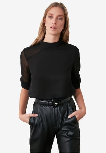 Trendyol black Shoulder Detail Blouse 72D64AA65B5C99GS_1