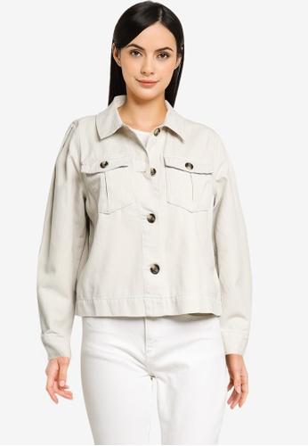 ONLY grey Cris-Marina Life Long Sleeve Puff Jacket A6F7EAA30DE3C2GS_1