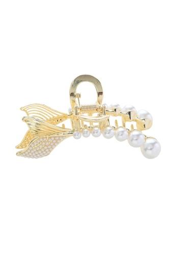 Kings Collection gold Faux Pearl Bow Hair Clip (HA20186) 18E20AC5F4B28AGS_1