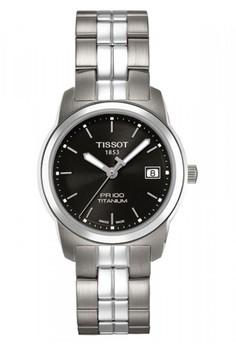 harga TISSOT PR 100 Quartz Lady Titanium Jam Tangan Wanita T0493104405100 - Stainless Steel - Silver Zalora.co.id