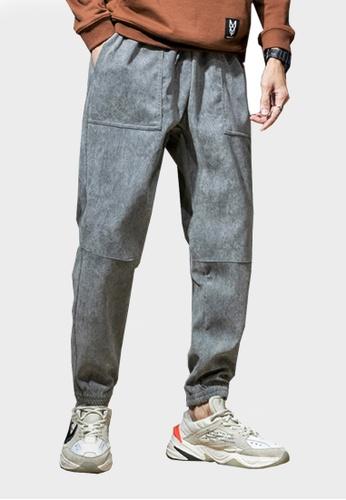Twenty Eight Shoes grey VANSA Solid Color Velvet Corduroy Casual Pants VCM-P42919V C33C3AAF119132GS_1