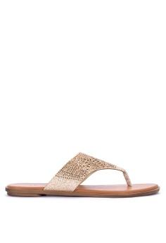 ecdaca0c40b5e CLN gold Resolute Flat Sandals 455FBSH8F17A26GS 1