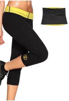 Hot Shapers Women's Pants Shapewear (Black) with FREE Hot Shapers Belly.