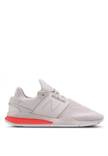 New Balance white and beige 247 Lifestyle Tritium Shoes 44B3CSH0AB7B5EGS_1