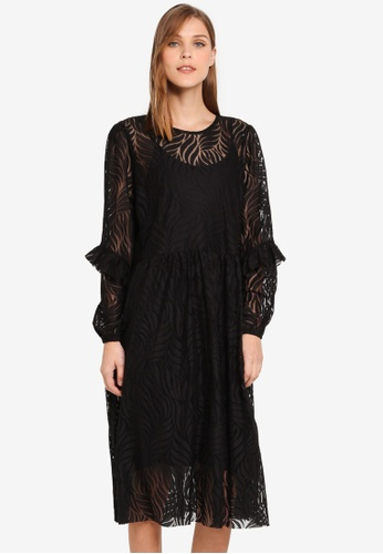 Y.A.S black Lucianna Lace Dress YA631AA0T0F6MY_1