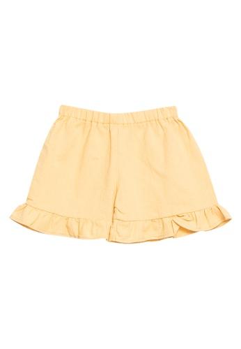 RAISING LITTLE yellow Peach Shorts 6DE07KADCA1CC8GS_1