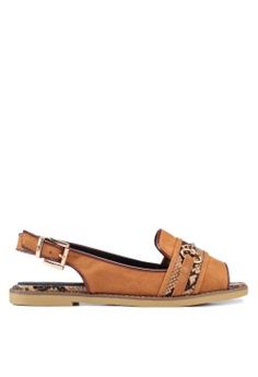 1f418fd5c874 River Island brown Elouise Sling Back Hardware Sandals A09BDSH9476FB0GS 1