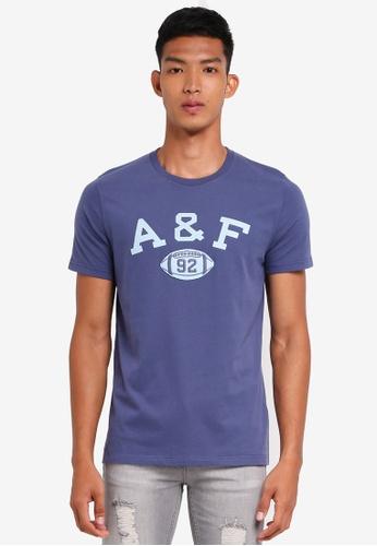 Abercrombie & Fitch blue Brand Logo T-Shirt 459B9AAB231F06GS_1
