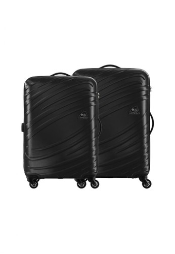 American Tourister black Kamiliant by American Tourister Siklon Koper Hardcase 2P Set (20/25inch) – Storm Black BB25BAC1990ED5GS_1