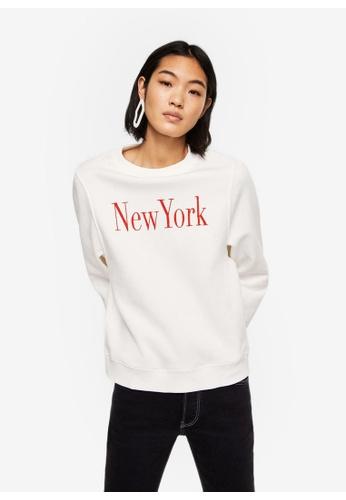 Mango white Message Pattern Sweatshirt 2630EAADA842E3GS_1