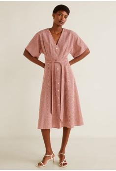 934fb6a0c05 15% OFF Mango Bow Linen-Blend Dress S  59.90 NOW S  50.90 Sizes XS S M L XL
