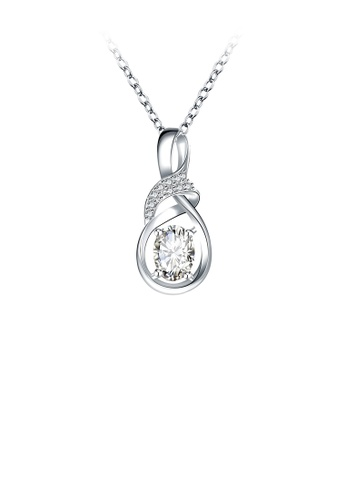 Glamorousky white Fashion Elegant Geometric Pendant with Cubic Zircon and Necklace B0867ACB0CAF3DGS_1