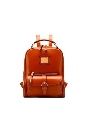 Jackbox brown Korean Fashion Casual Ipad Backpack 509 (Brown) JA762AC11VHSMY_1