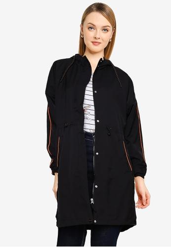 LC Waikiki black Standard Fit Hooded Raincoat 37C12AA50EFAE4GS_1