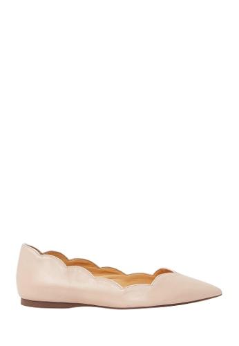 Nina Armando pink Alyson Leather Ballet Flats NI342SH0FV8DSG_1