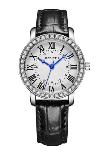 Rebirth Watch black and white REBIRTH  wanita kasual jam tangan 76B4CACDD661EBGS_1